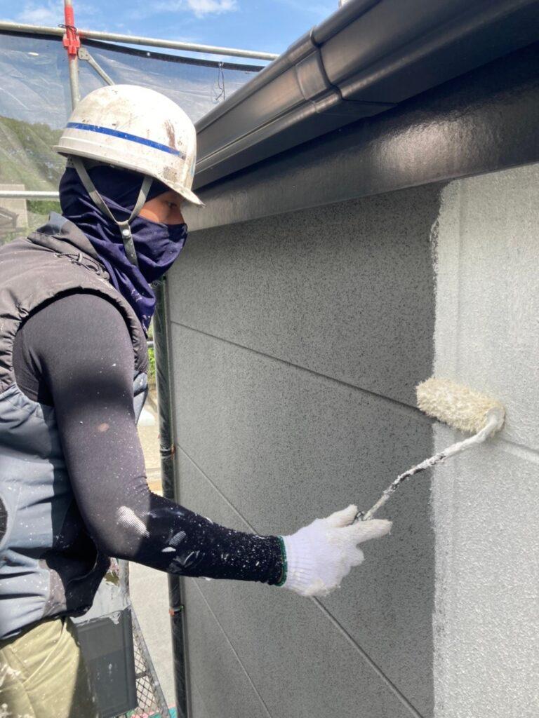 三養基郡 外壁塗装(下塗り) 写真7