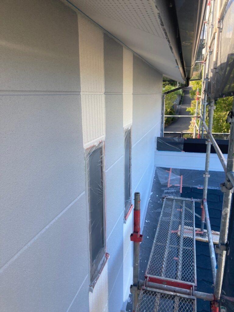 三養基郡 外壁塗装 中塗り② 写真11