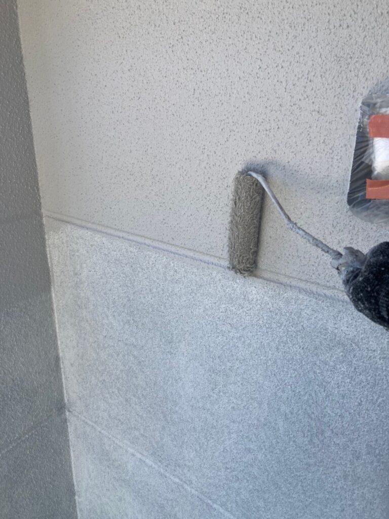 三養基郡 外壁塗装 中塗り② 写真2