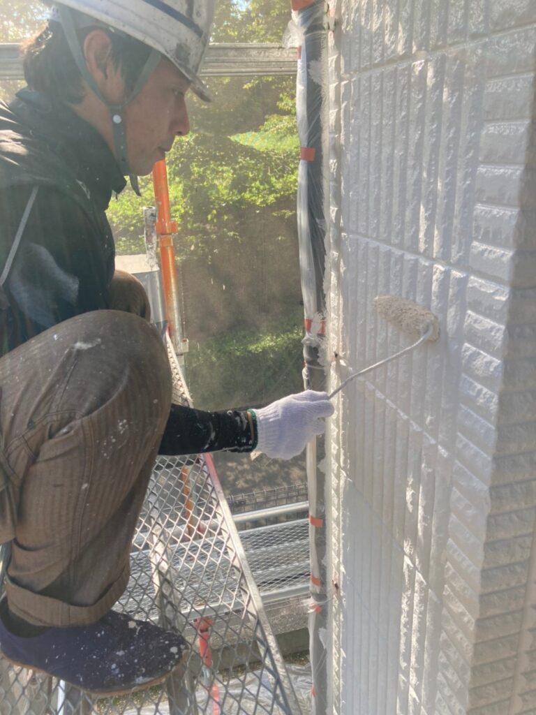 三養基郡 外壁塗装 中塗り② 写真9