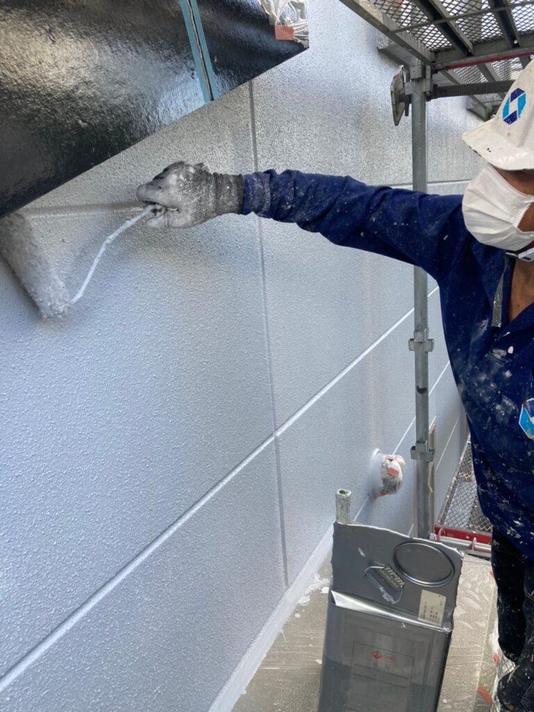 三養基郡 外壁塗装(上塗り) 写真3