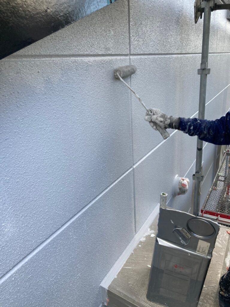 三養基郡 外壁塗装(上塗り) 写真4
