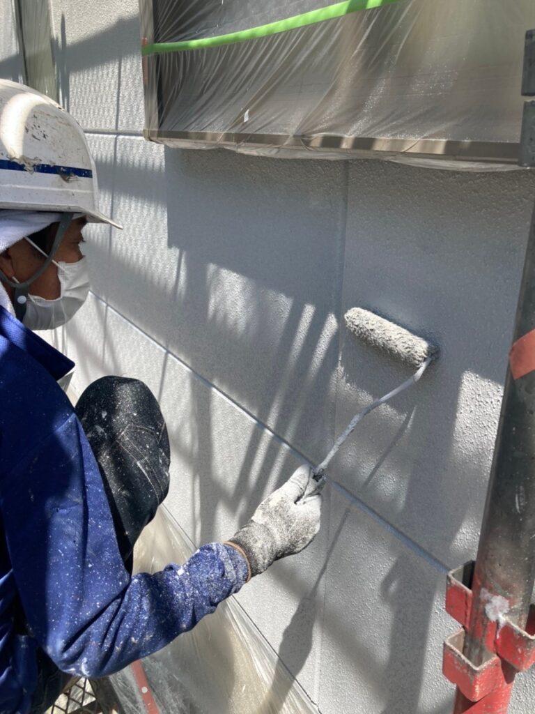 三養基郡 外壁塗装(上塗り) 写真5
