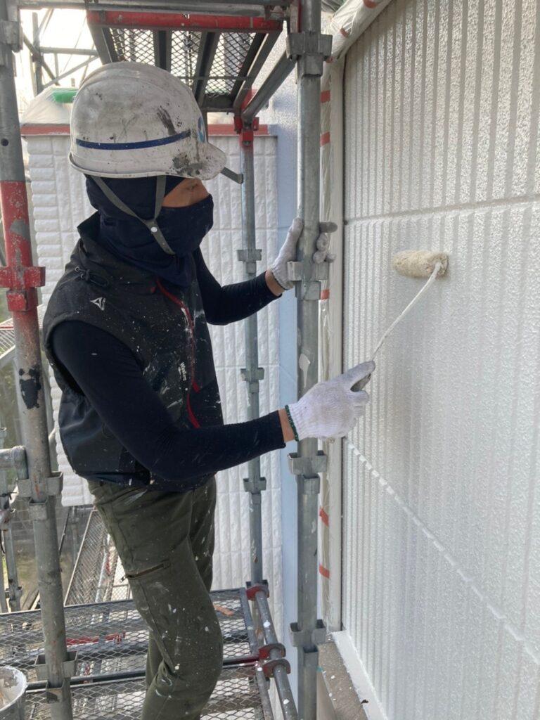 三養基郡 外壁塗装(上塗り) 写真6