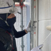 三養基郡 外壁塗装(上塗り)