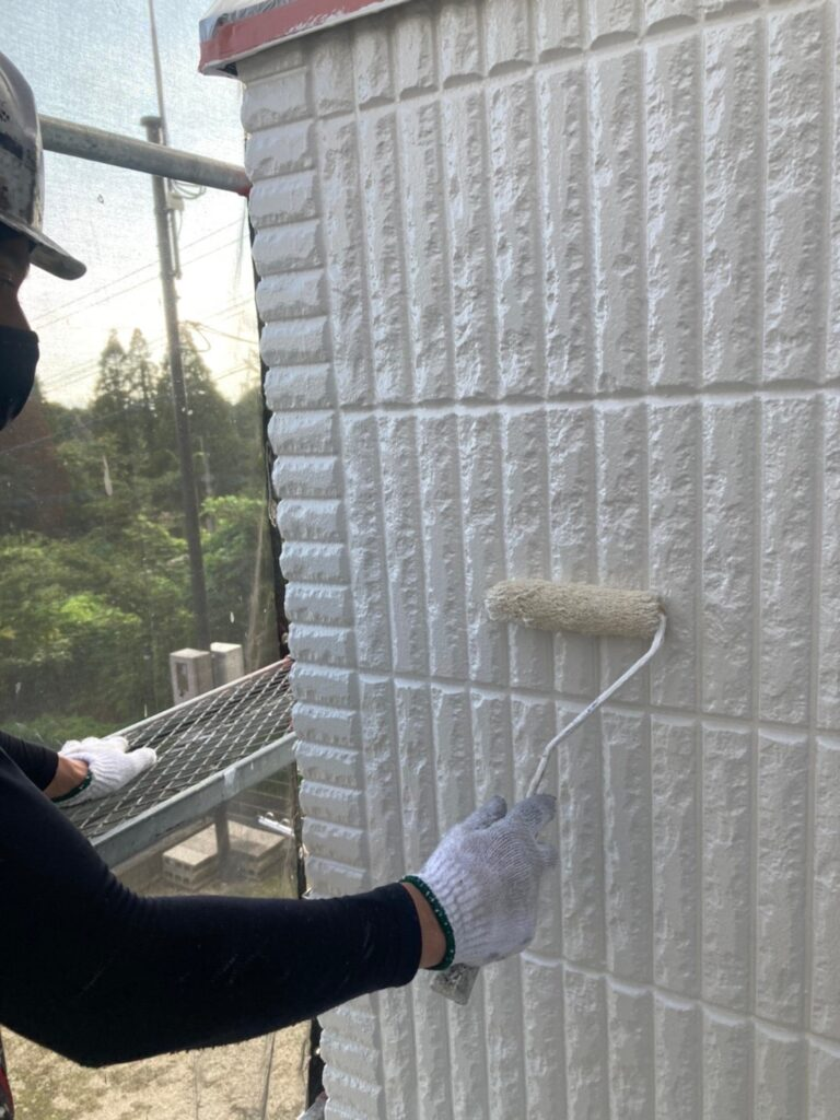 三養基郡 外壁塗装(上塗り) 写真7