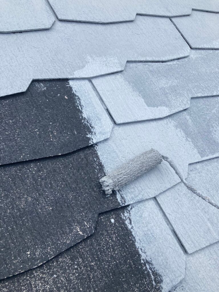 三養基郡 破風コーキング補修 屋根塗装(下塗り) 写真10