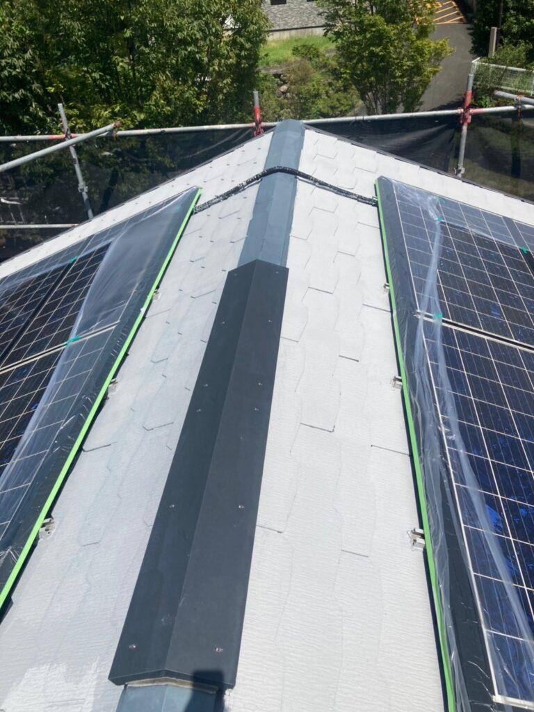 三養基郡 破風コーキング補修 屋根塗装(下塗り) 写真11