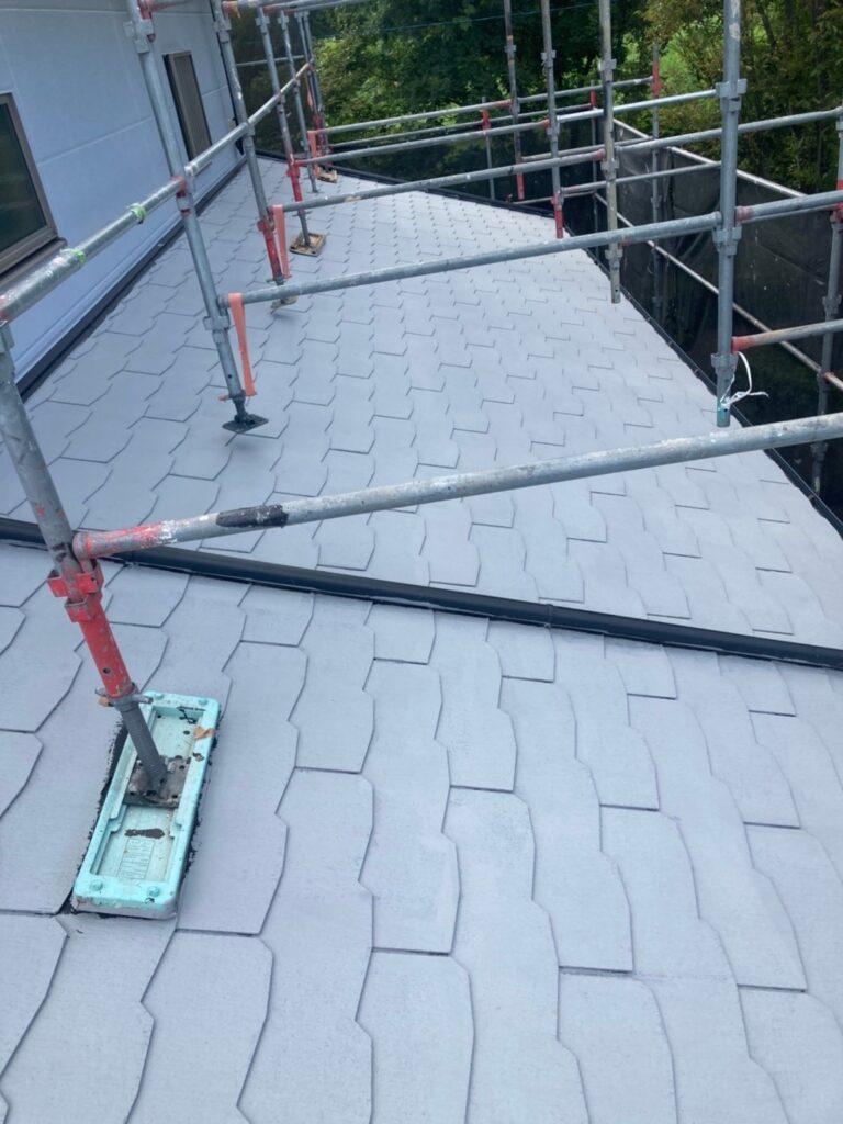 三養基郡 破風コーキング補修 屋根塗装(下塗り) 写真14