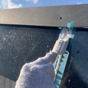 三養基郡 破風コーキング補修 屋根塗装(下塗り)