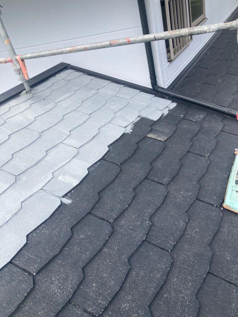 三養基郡 破風コーキング補修 屋根塗装(下塗り) 写真9