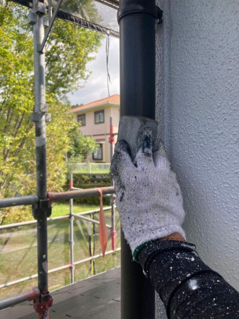 三養基郡 屋根塗装(中塗り) 付帯塗装 写真10