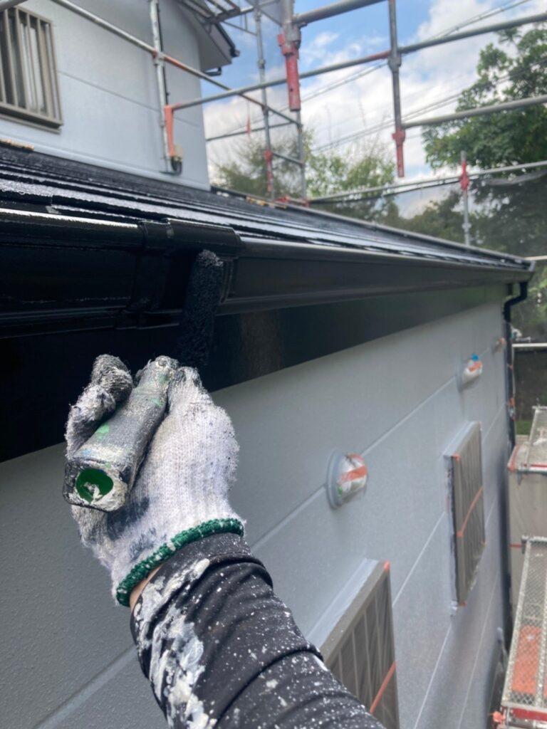 三養基郡 屋根塗装(中塗り) 付帯塗装 写真12