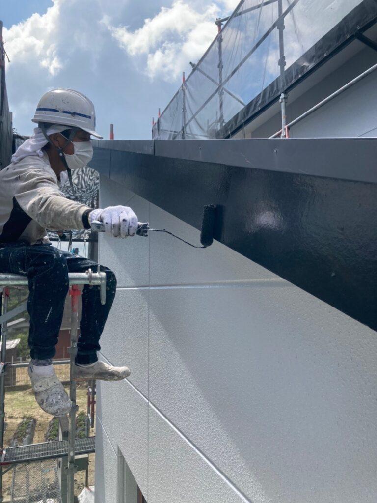 三養基郡 屋根塗装(中塗り) 付帯塗装 写真13