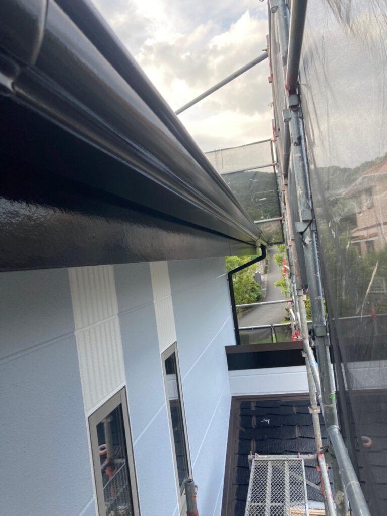 三養基郡 屋根塗装(中塗り) 付帯塗装 写真15
