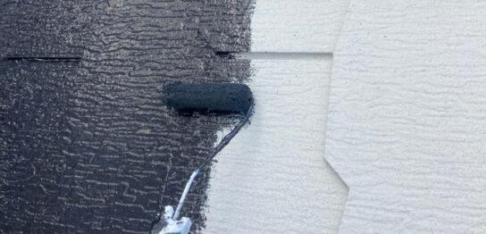 三養基郡 屋根塗装(中塗り) 付帯塗装