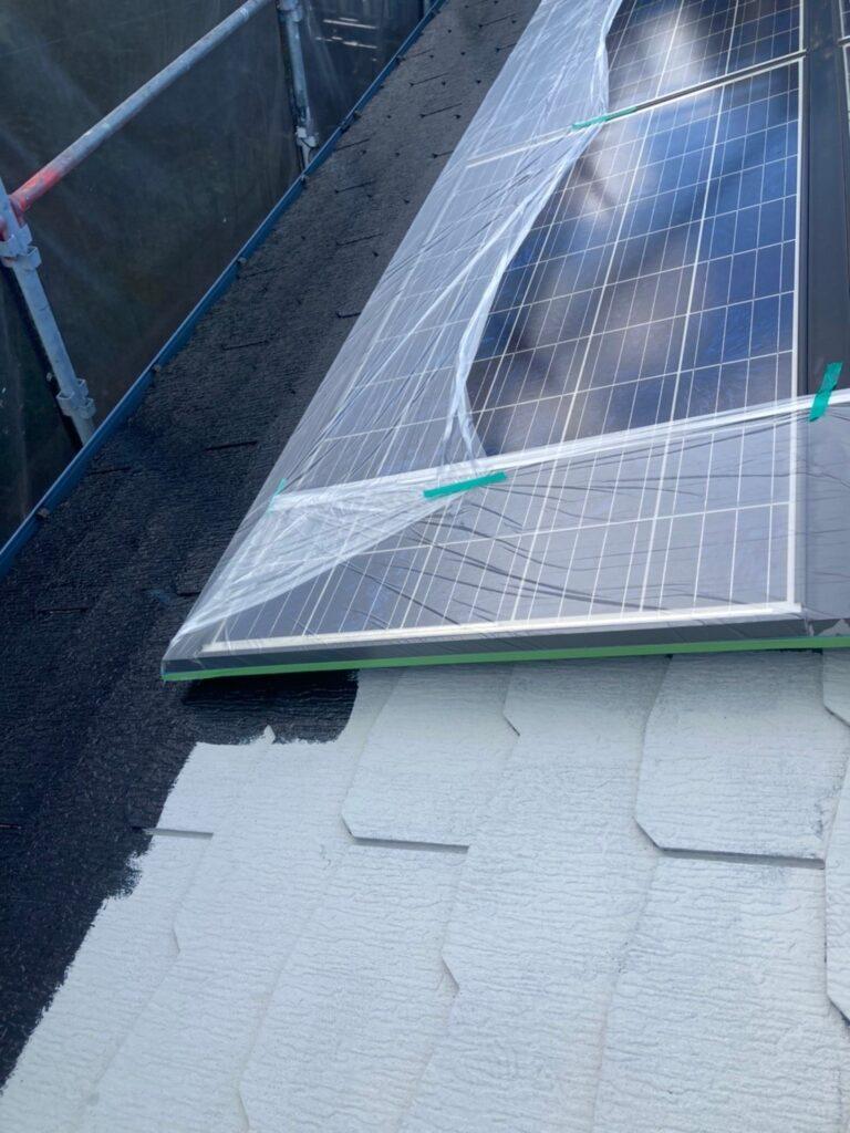 三養基郡 屋根塗装(中塗り) 付帯塗装 写真3