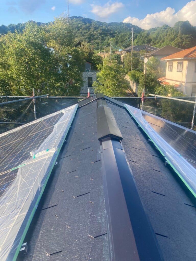 三養基郡 屋根塗装(中塗り) 付帯塗装 写真5