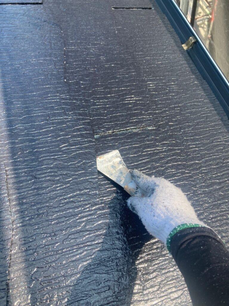 三養基郡 屋根塗装(縁切り・上塗り)など 写真2