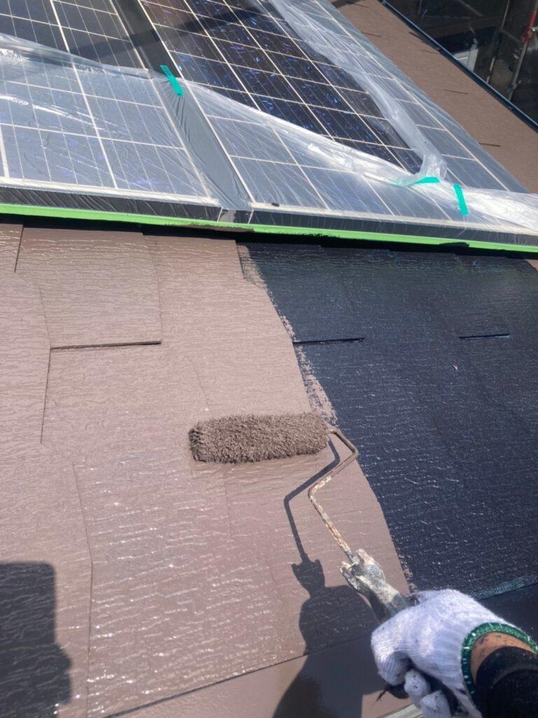 三養基郡 屋根塗装(縁切り・上塗り)など 写真4