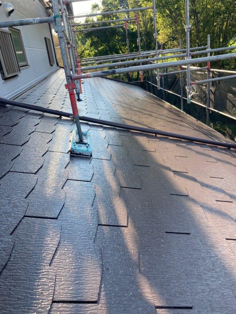 三養基郡 屋根塗装(縁切り・上塗り)など 写真7