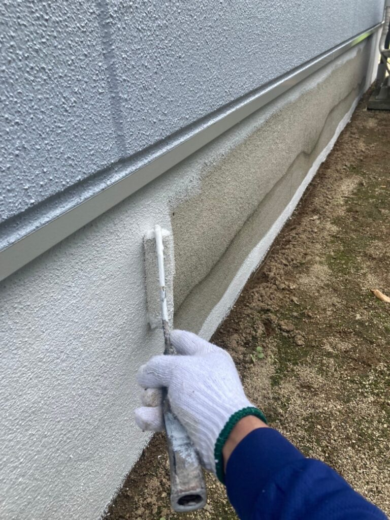 三養基郡 ベランダ防水塗装 基礎巾木塗装 写真11