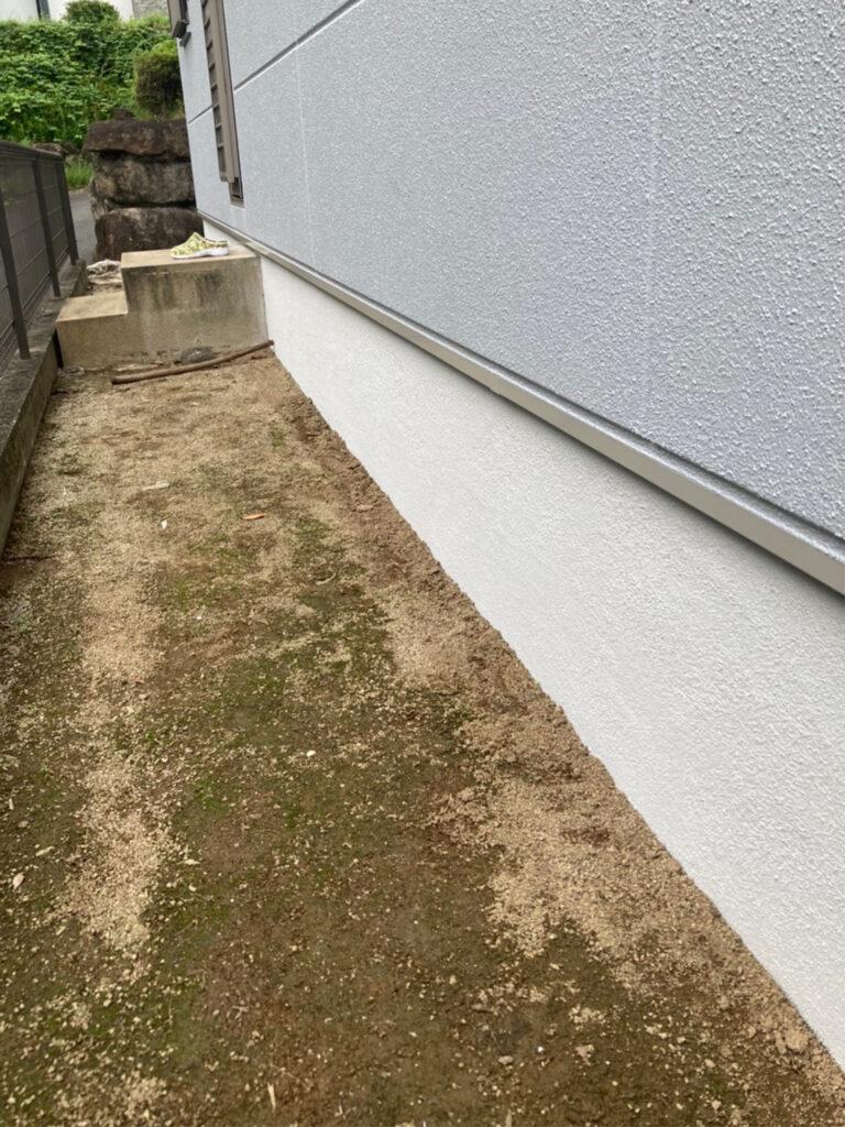 三養基郡 ベランダ防水塗装 基礎巾木塗装 写真12