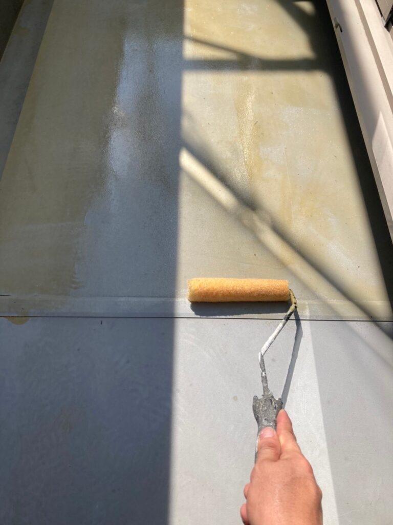 三養基郡 ベランダ防水塗装 基礎巾木塗装 写真2