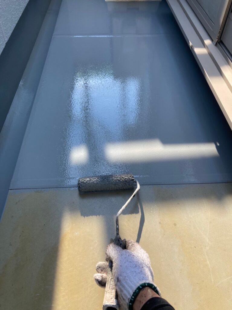 三養基郡 ベランダ防水塗装 基礎巾木塗装 写真5
