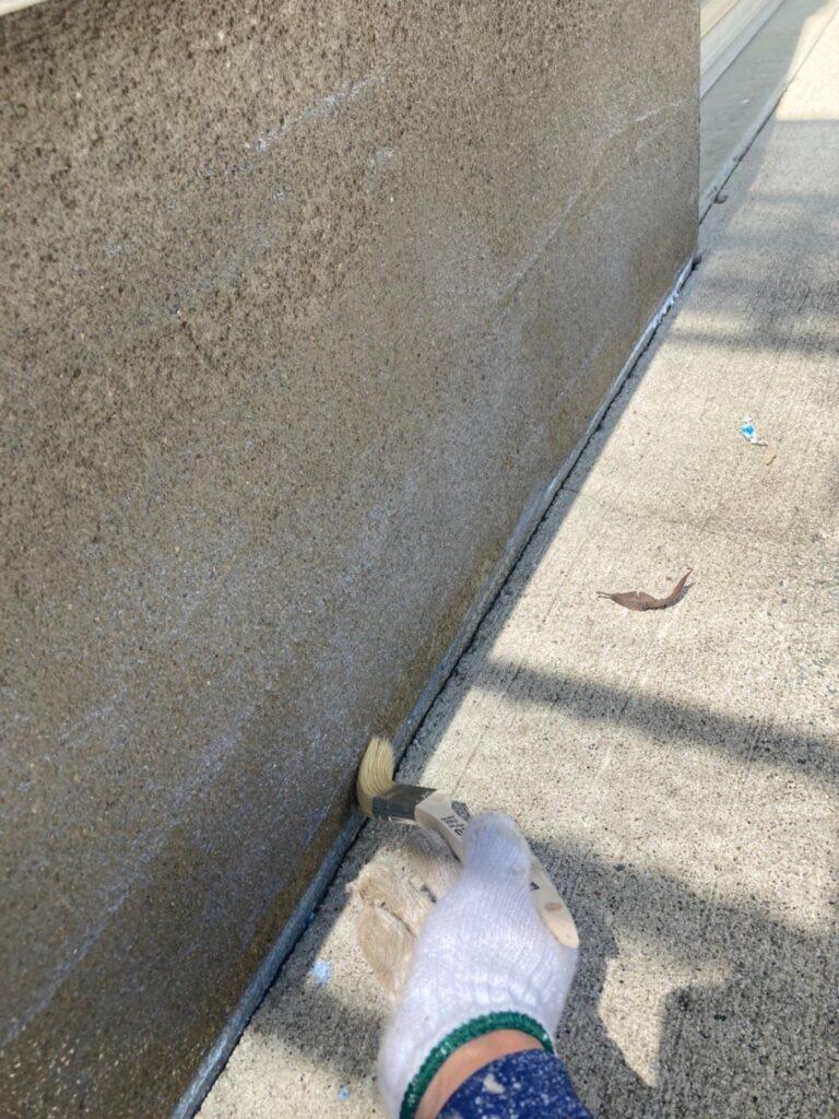 三養基郡 ベランダ防水塗装 基礎巾木塗装 写真9