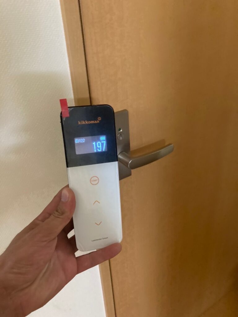ルミテスターATP測定②:三養基郡 室内用光触媒コーティング 写真18