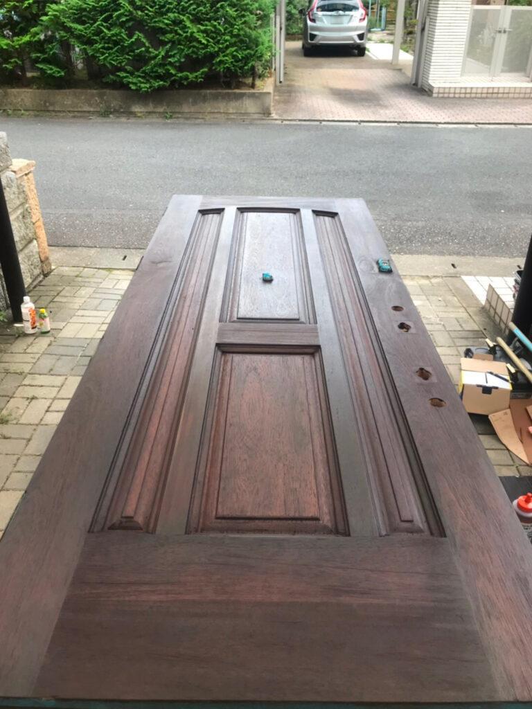 匠の技!木製玄関ドア塗装 写真15