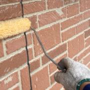 久留米市 外壁クリヤー塗装2回目