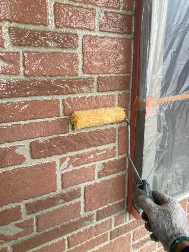 久留米市 外壁クリヤー塗装2回目 写真5