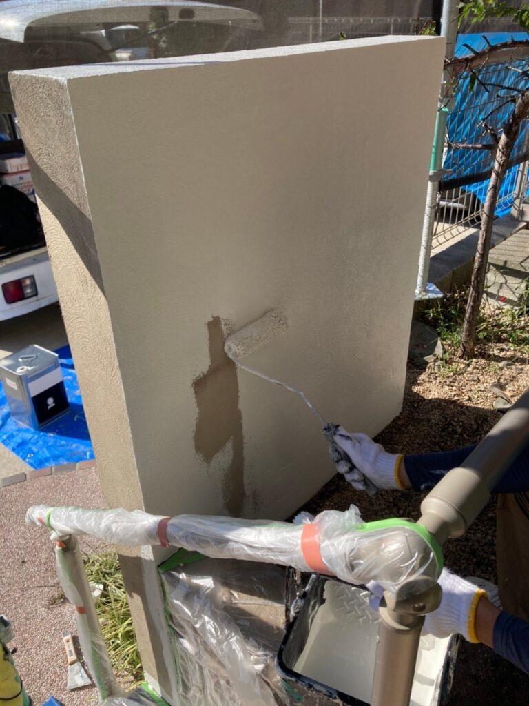 久留米市 付帯塗装 基礎巾木塗装 腰壁塗装 写真12