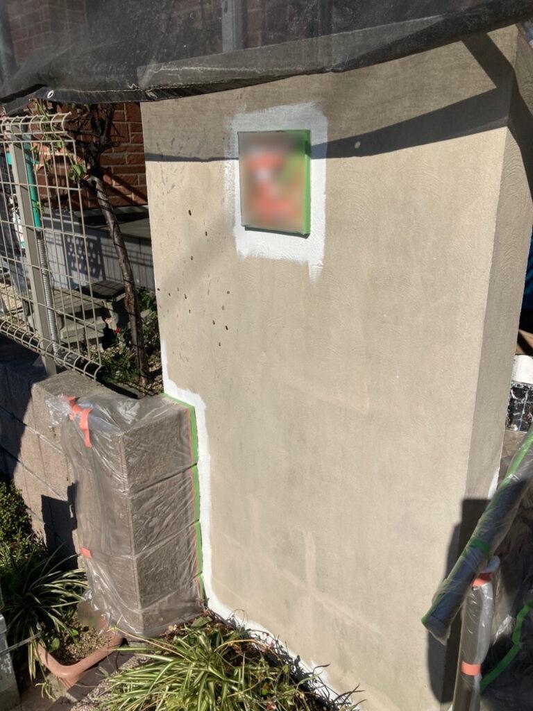 久留米市 付帯塗装 基礎巾木塗装 腰壁塗装 写真13