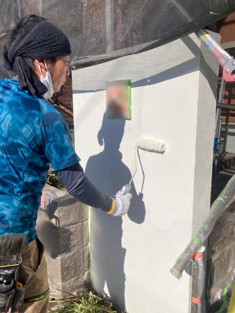 久留米市 付帯塗装 基礎巾木塗装 腰壁塗装 写真14